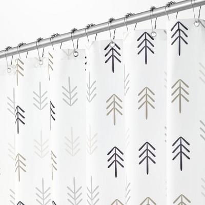 mDesign Fabric Shower Curtain, Medallion Print