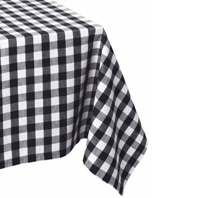 84 x60  Checkers Tablecloth Black/White - Design Imports