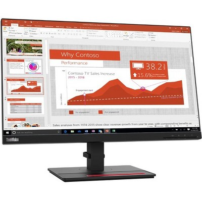 "Lenovo ThinkVision T24i-20 23.8"" Full HD WLED LCD Monitor - 16:9 - Raven Black - 24"" Class - In-plane Switching (IPS) Technology - 1920 x 1080"