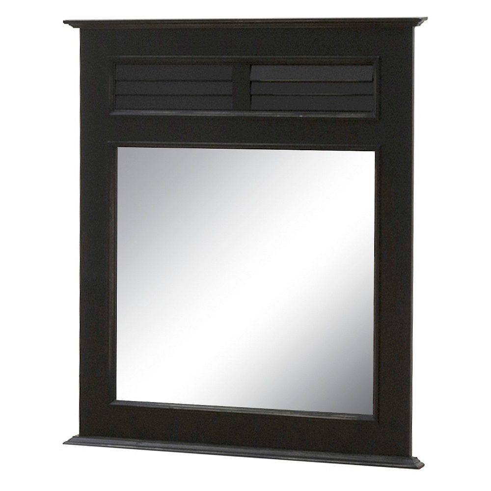 John Boyd Designs Outer Banks Collection Single Mirror - Black