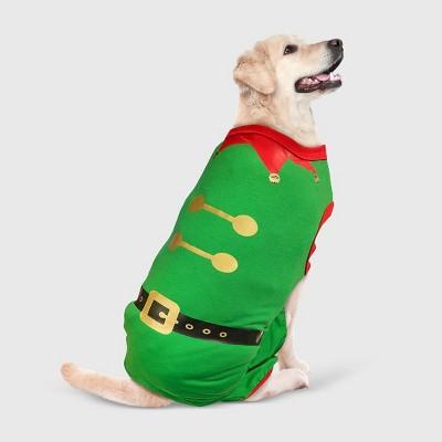 Holiday Elf Stretch Dog Matching Family Pajamas - Green - M - Wondershop™