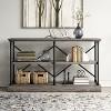 Conway 2 Shelf Wood Horizontal Bookcase with Cast Iron Frame - Threshold™ - image 2 of 4
