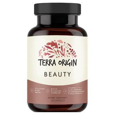 Terra Origin Beauty Hair Skin & Nails Collagen Capsules - 60ct