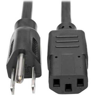 """Tripp Lite 4ft Computer Power Cord Cable 5-15P to C13 10A 18AWG 4' - 10A,18AWG (NEMA 5-15P to IEC-320-C13) 4-ft."""""""