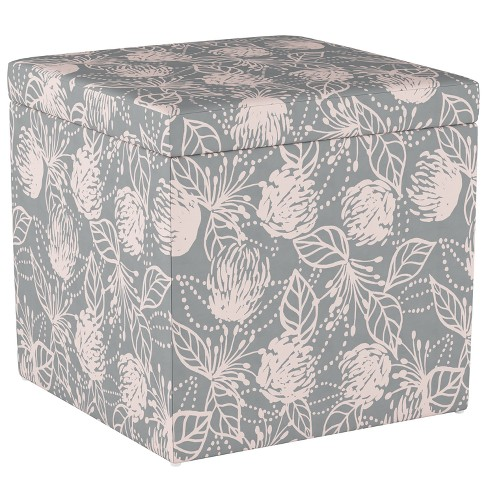 Awe Inspiring Plano Storage Ottoman Sketch Floral Gray Pink Project 62 Gmtry Best Dining Table And Chair Ideas Images Gmtryco