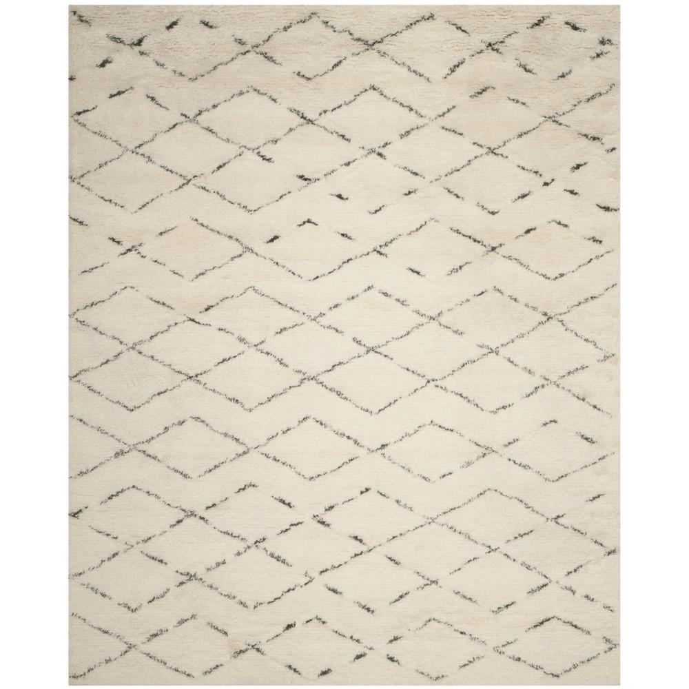 8'X10' Geometric Tufted Area Rug Ivory/Gray - Safavieh