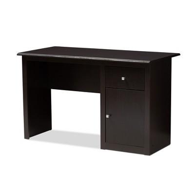 Belora Modern and Contemporary Finished Desk Dark Brown - Baxton Studio