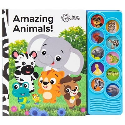 Baby Einstein Amazing Animals 10 Button Sound Book (Board Book)