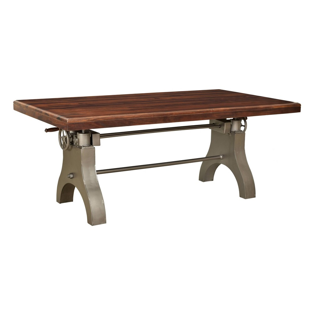 Image of 2 Cartons Tacoma Industrial Dining Table Brown - Treasure Trove
