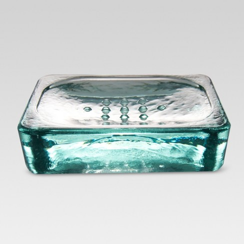 Recycled Glass Soap Dish Clear - Threshold™ - image 1 of 4