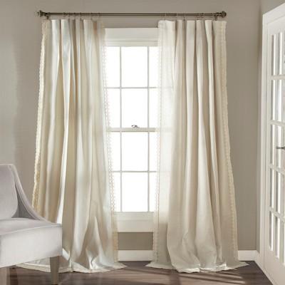 Rosalie Rod Pocket Light Filtering Window Curtain Panels - Lush Décor