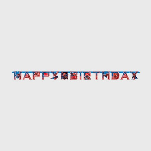 Spider-Man 6.5' Birthday Party Banner - image 1 of 3