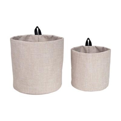 Set of 2 Hang Around Storage Bin Beige - Bigso Box of Sweden