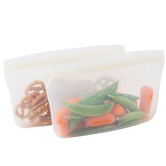 Progressive Reusable Silicone 2pk Snack Bag - Sour Cream