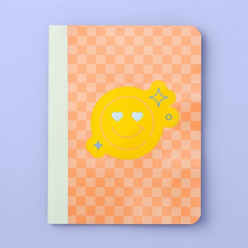 More Than Magic™ Girl Talk Peace Sign & Smile face Flocking Composition Book - image 1 of 2
