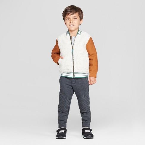 80ceab430 Genuine Kids® From OshKosh Toddler Boys  Sherpa Bomber Jacket With ...