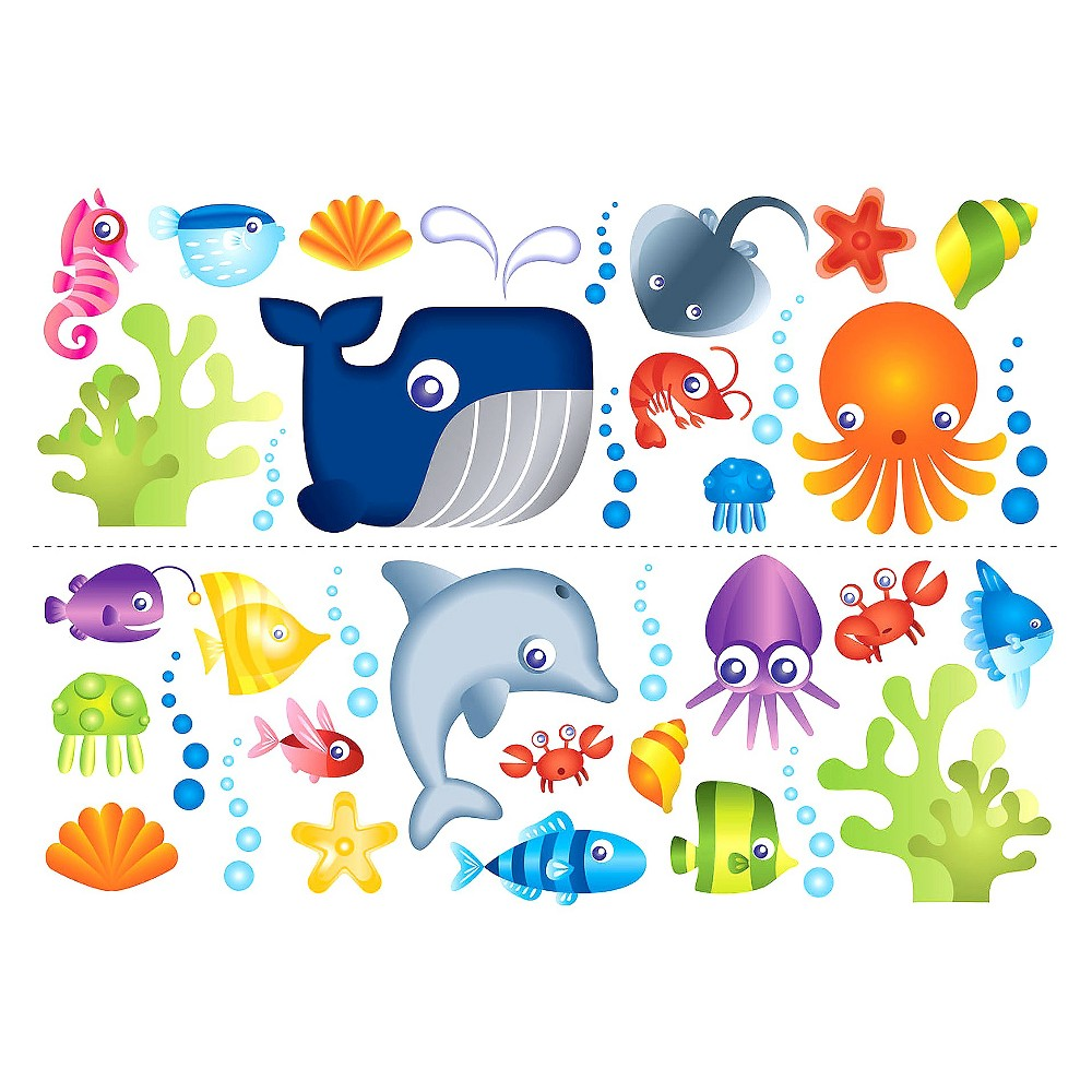 WallPops! Under the Sea Decals, Multi-Colored