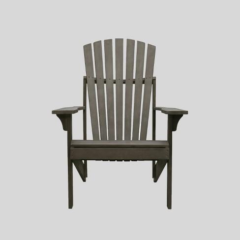 Astounding Renaissance Wood Outdoor Patio Adirondack Chair Gray Vifah Gamerscity Chair Design For Home Gamerscityorg