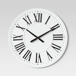 "26"" Metal Wall Clock White - Threshold™"