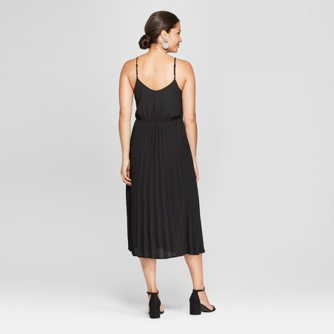 Womens Sleeveless Pleated Slip Dress A New Day Black Target
