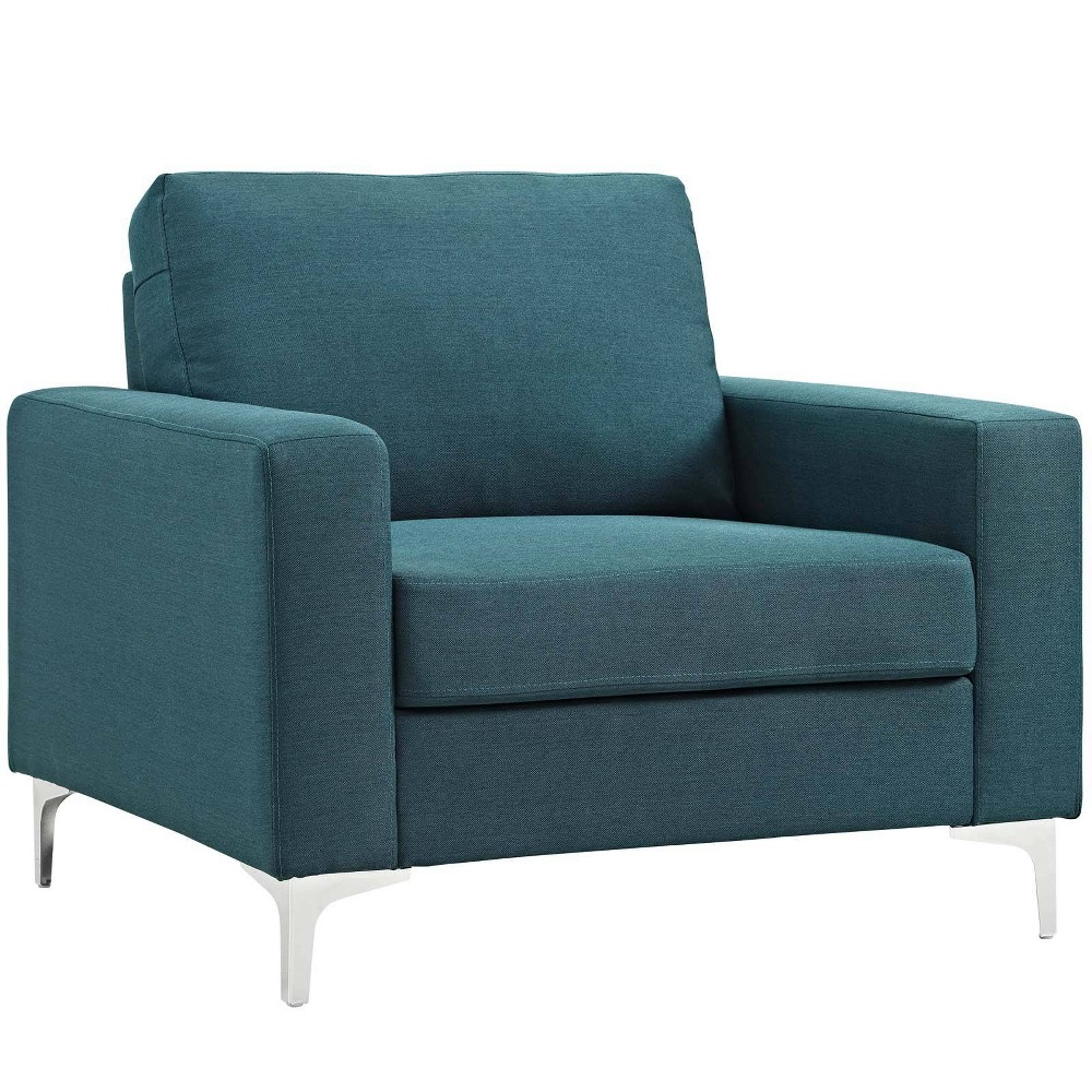 Allure Upholstered Armchair Blue - Modway