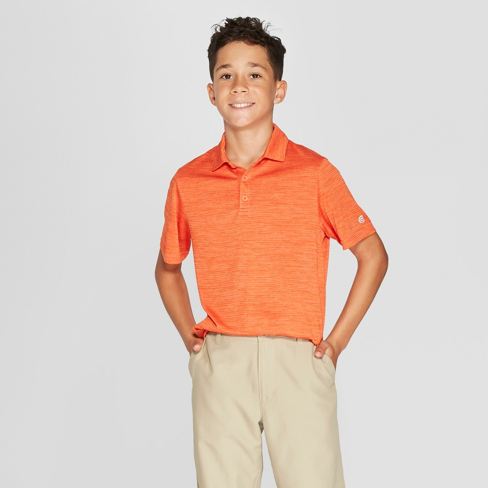 Image of Boys' Golf Polo Shirt - C9 Champion Sizzling Orange XS, Boy's