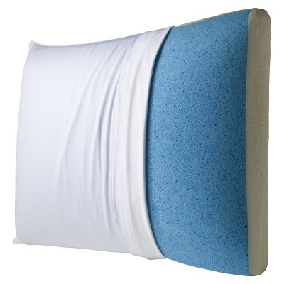 'Reversible Gel Memory Foam Pillow - White (28'')'