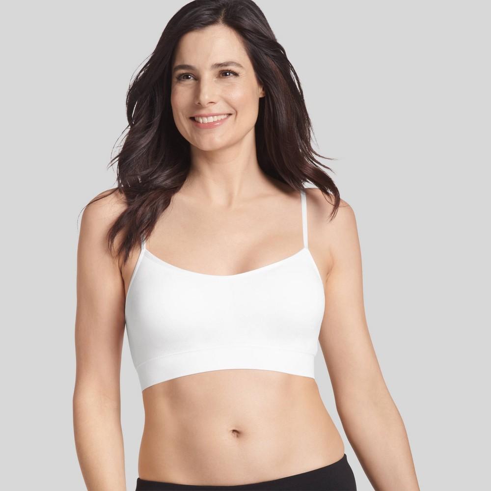 Check price Jockey Generation Womens Seamfree Cami Strap Bralette - White XL