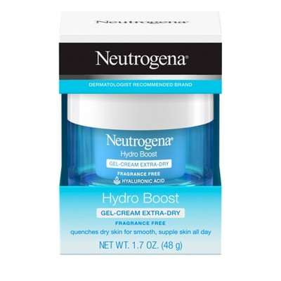 Unscented Neutrogena Hydro Boost Hyaluronic Acid Gel Face Moisturizer to hydrate and smooth extra-dry skin - 1.7oz