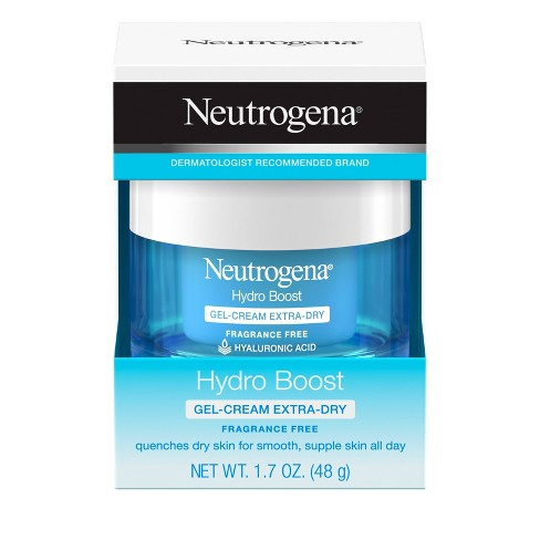 Unscented Neutrogena Hydro Boost Hyaluronic Acid Gel Face Moisturizer to hydrate and smooth extra-dry skin - 1.7oz - image 1 of 4