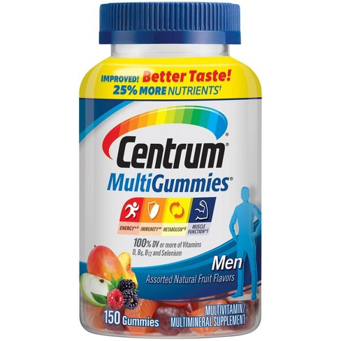 Centrum MultiGummies Men's Multivitamin & Multimineral Gummies - Cherry, Berry & Apple - 150ct - image 1 of 4