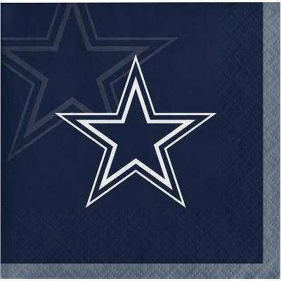 48ct Dallas Cowboys Football Beverage Napkins