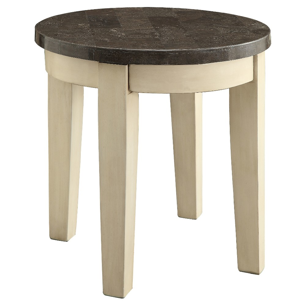 End Table Off White - Acme