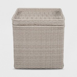 Wicker Storage Patio Accent Table Gray - Threshold™