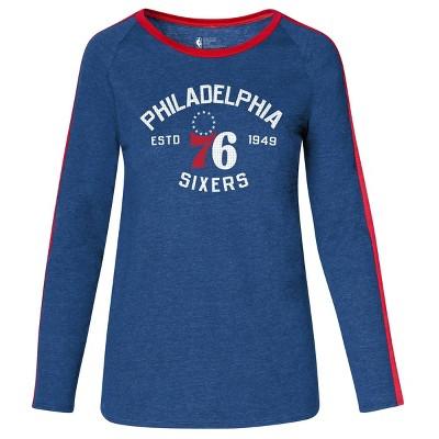 NBA Philadelphia 76ers Women's Team Shoulder Stripe Sweatshirt