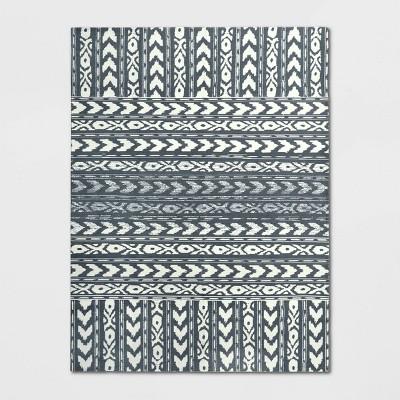 9'X12' Indoor/Outdoor Geometric Woven Area Rug Gray - Threshold™