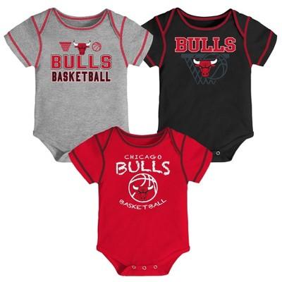 NBA Chicago Bulls Baby Boys' Onesies Bodysuit 3pk - 3-6M