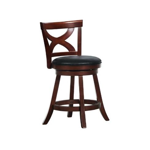 Incredible 24 Fleta Dark Cherry X Back Swivel Counter Stool Black Inspire Q Andrewgaddart Wooden Chair Designs For Living Room Andrewgaddartcom