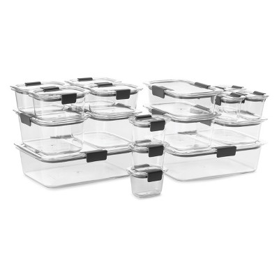 Rubbermaid 36pc Brilliance Food Containers Set Clear