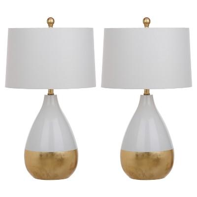 Kingship Glass Table Lamp (Set of 2)White - Safavieh