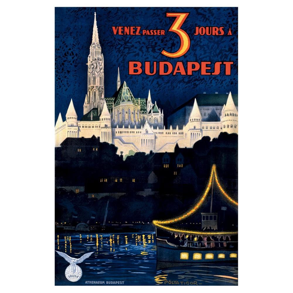 Art.com -Budapest, Blue, Unframed Wall Poster Print