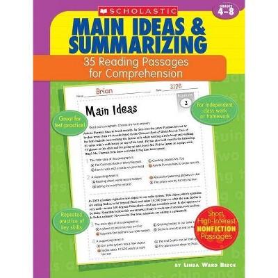 35 Reading Passages for Comprehension: Main Ideas & Summarizing - by  Linda Ward Beech & Linda Beech (Paperback)