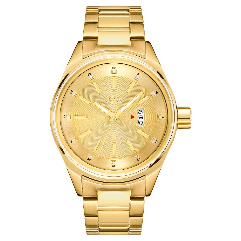 Image of Men's JBW J6287L Rook Japanese Movement Stainless Steel Real Diamond Watch - Gold, Men's, Size: Small