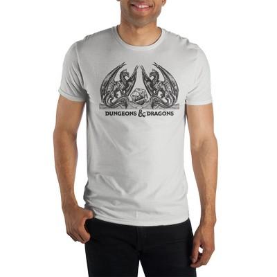Dungeons & Dragons Mens Dungeons & Dragons Dungeons & Dragons Product Logo Regular Fit Short Sleeve Crew Graphic Tee - White Medium