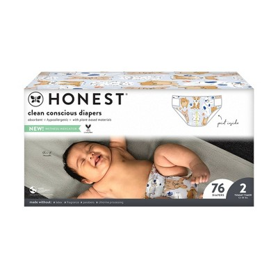 The Honest Company It's a Pawty Disposable Diapers - Size 2 - 76ct