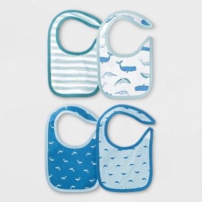 Baby Boys' 4pk Sleepy Tides Bib Set - Cloud Island™ Blue One Size