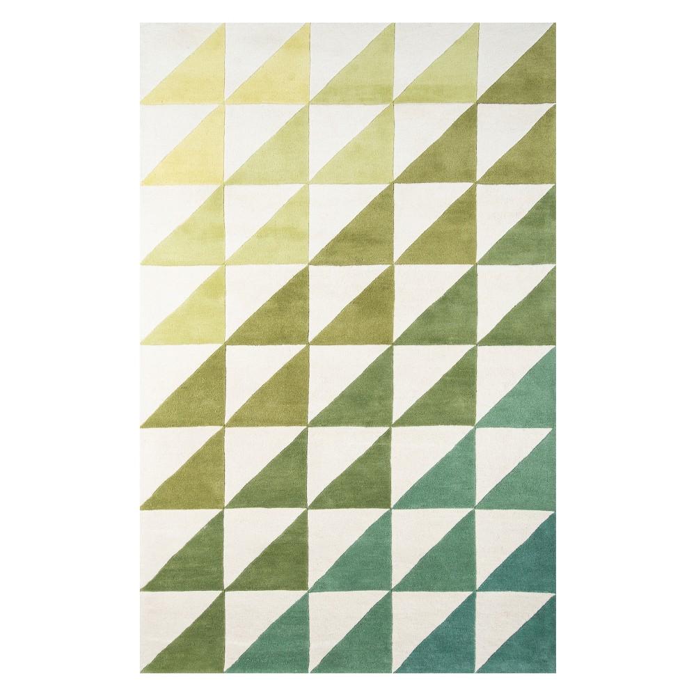 9 X12 Ombre Design Tufted Area Rug Lime Novogratz By Momeni