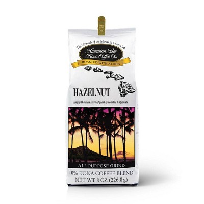 Hawaiian Isles Hazelnut Medium Roast Ground Coffee - 8oz