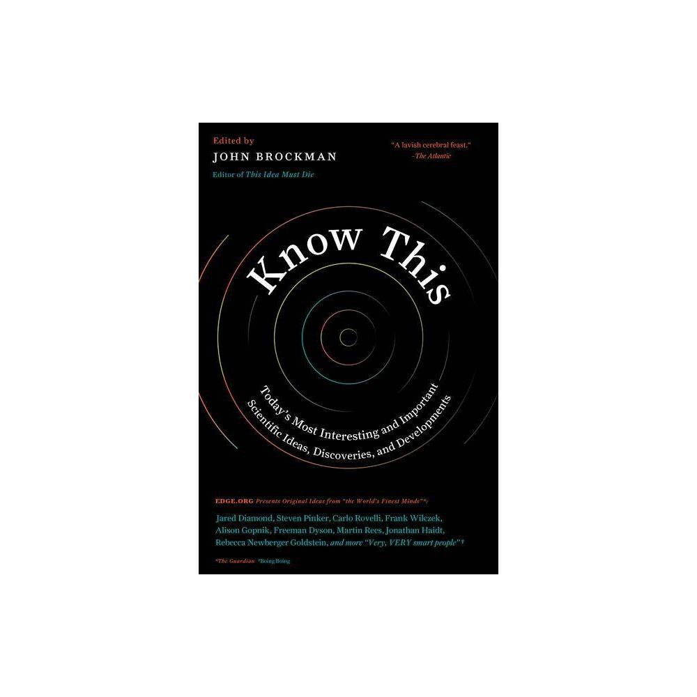 Know This Edge Question By John Brockman Paperback