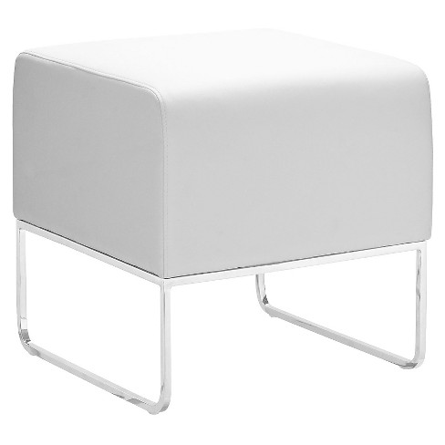 Contemporary Square Faux Leather Ottoman - ZM Home - image 1 of 4